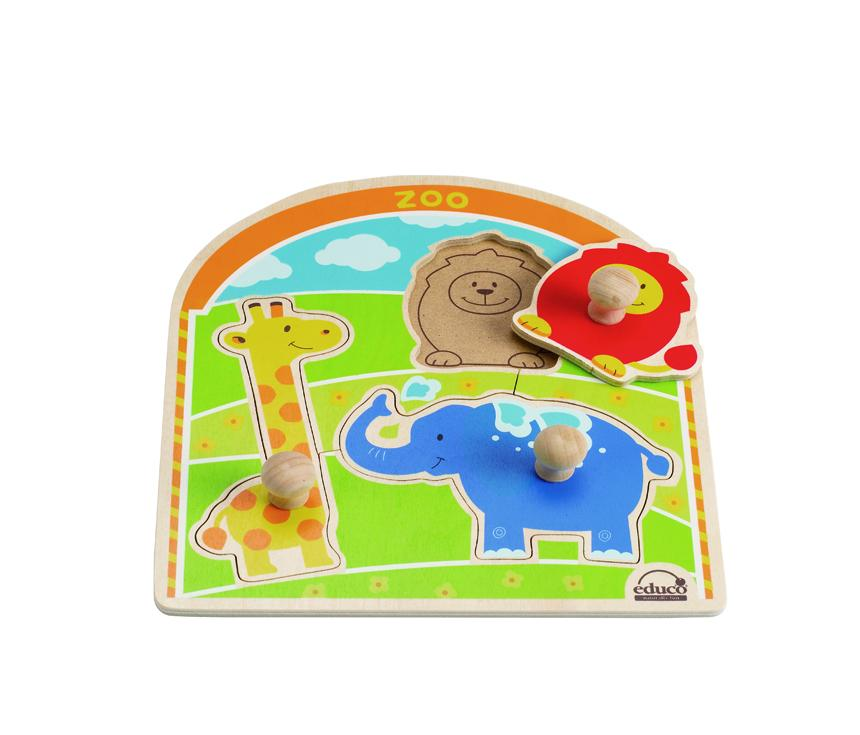 動物園木拼圖 Zoo Animals Knob Puzzle